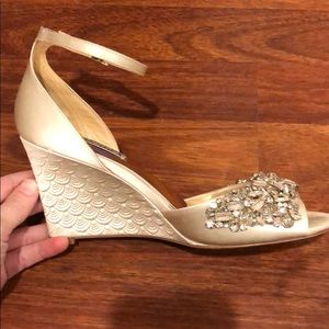 "42e5a5c04dea06 Badgley Mischka Shoes - Badgley Mischka ""Barbara"" Wedge Evening Shoe 7"